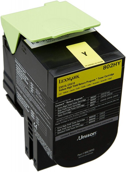 Lexmark Toner 80C2HY0 Yellow