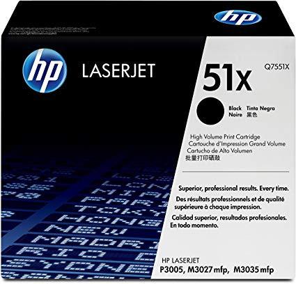 Original HP Toner Q7551X / 51X black