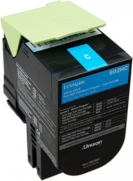 Lexmark Toner 80C2HC0 Cyan