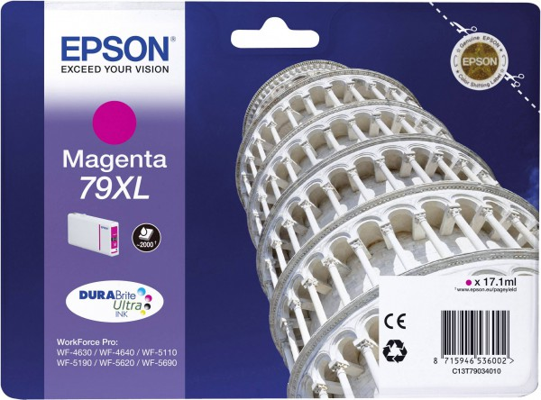 Original Epson Ink 79XL/C13T79034010, M