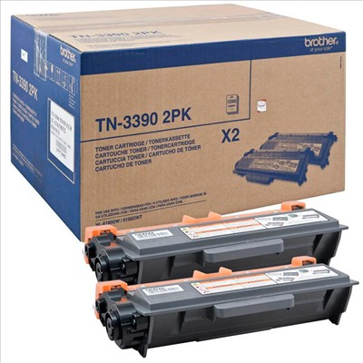Original Brother Toner TN-3390, DuoPack
